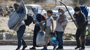 Asylum-seekers have been sleeping rough on Lesbos island since Wednesday, when some 11,000 fled the overcrowded Moria camp after it was gutted in apparent arson attacks