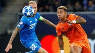 Les Lyonnais sont passés tout près de la victoire à Hoffenheim, mercredi 23 octobre 2018.