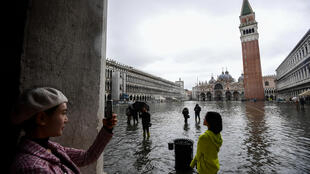 """Venice regularly experiences """"acqua alta"""", abnormally high tides that flood shops and hotels as well as the famous St. Mark's Square"""