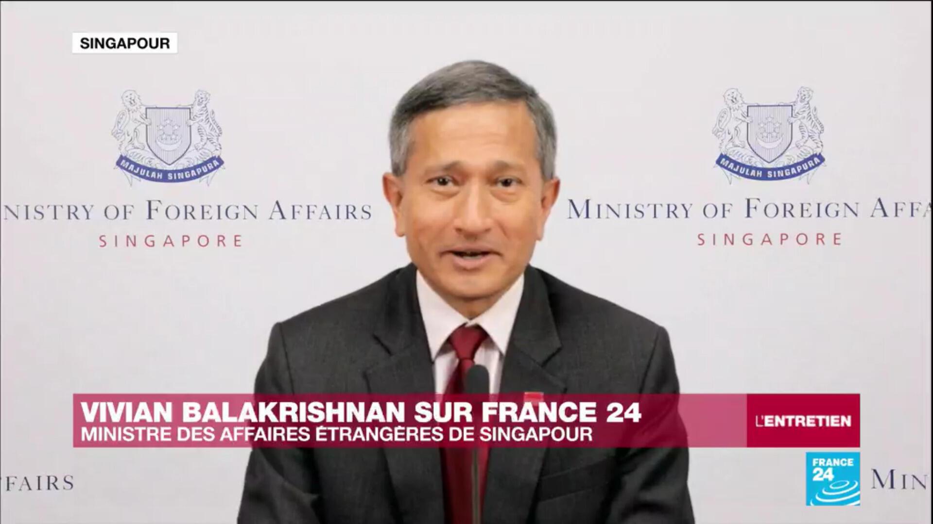 Vivian Balakrishnan, ministre des Affaires étrangères de Singapour