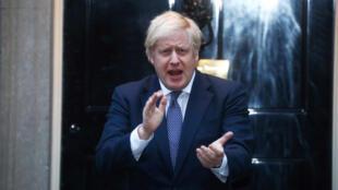 Boris Johnson le 30 avril 2020 à Londres.