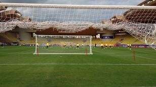 """تدريبات بروسيا دورتموند ظهر الثلاثاء على ملعب """"لويس الثاني"""" في موناكو."""