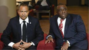 Rencontre entre Moïse Katumbi et Jean-Pierre Bemba à Bruxelles, le 12 septembre 2018.