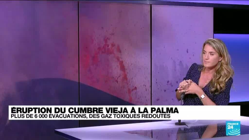 """2021-09-22 17:02 Eruption aux Canaries : """"Le contact entre la mer et la lave peut créer des explosions"""""""