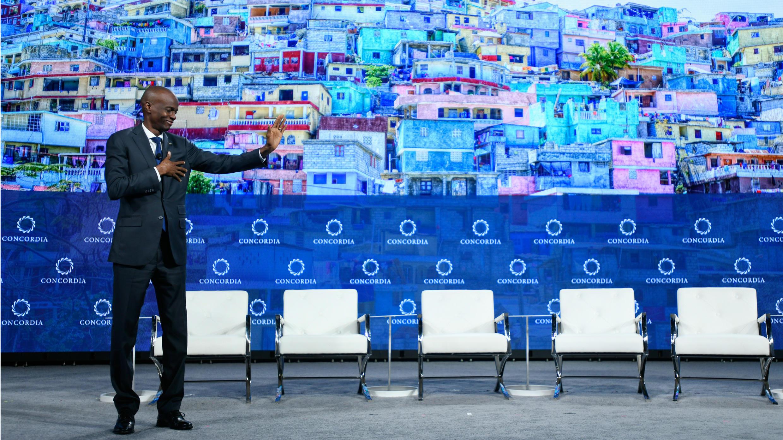 El Presidente de la República de Haití, Jovenel Moïse, durante la Cumbre Anual Concordia 2018 - en el Grand Hyatt New York, el 25 de septiembre de 2018 en la ciudad de Nueva York, EE. UU.