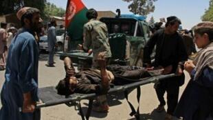 صورة من العاصمة الأفغانية عقب تفجير انتحاري وقع بداية العام الجاري