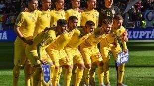 L'équipe de Roumanie avant un match de Ligue des nations contre la Serbie, le 14 octobre 2018 à Bucarest