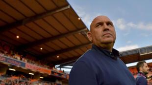 Frédéric Antonetti, alors entraîneur de Lille, le 17 septembre 2016 au stade du Moustoir à Lorient