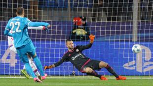 Le gardien lyonnais Anthony Lopes s'est incliné à trois reprises face au Zenith Saint Pétersbourg.