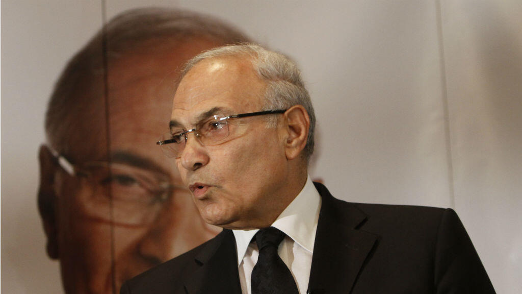 This file photo taken on June 03, 2012 shows former Egyptian prime minister Ahmed Shafiq addressing a press conference in Cairo.