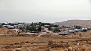 صورة عامة لمستوطنة ميتسبه كراميم قرب رام الله في الضفة الغربية المحتلة ملتقطة في 29 آب/اغسطس 2018