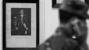 Una foto del expresidente chileno Eduardo Frei Montalva, padre del expresidente Eduardo Frei Ruiz-Tagle, se exhibe en una escuela pública en la ciudad de La Unión, al sur de Santiago.