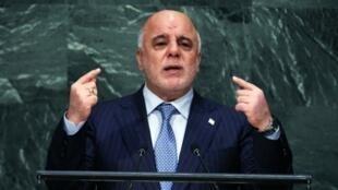 رئيس الوزراء العراقي حيدر العبادي في الجمعية العامة للأمم المتحدة 30 أيلول/سبتمبر 2015
