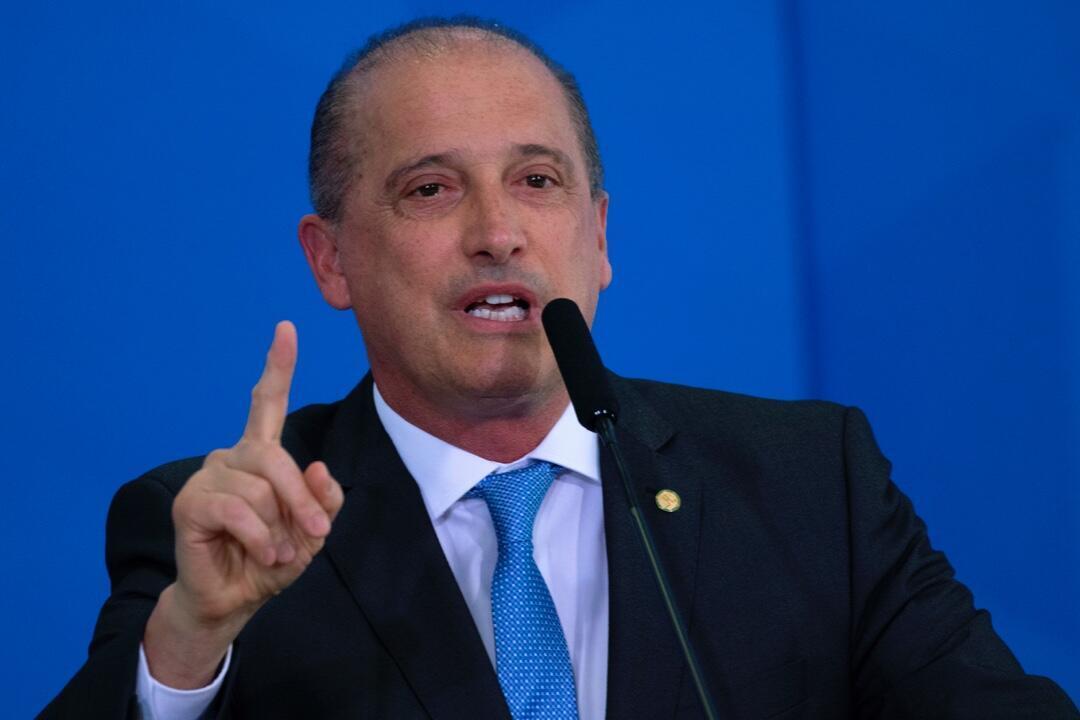 El ministro de Ciudadanía de Brasil, Onyx Lorenzoni, quien junto al titular de la cartera brasileña de Educación, Milton Ribeiro, dieron positivo a las pruebas de Covid-19.