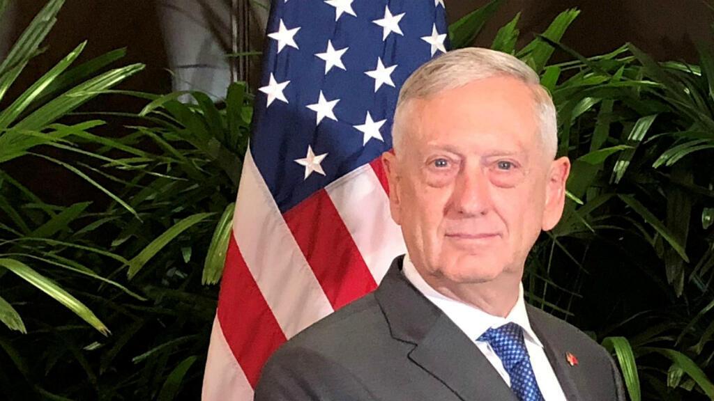 File photo of former US Defense Secretary Jim Mattis in Singapore, October 18, 2018.