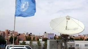 مقر الأمم المتحدة في العيون في الصحراء الغربية.