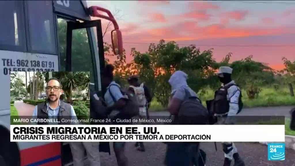 2021-09-22 03:03 Informe desde Ciudad de México: haitianos en Texas regresan a México por temor a ser deportados