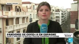 2020-04-09 13:00 Covid-19 en Espagne : Le pays proche d'inverser la courbe, selon Pedro Sanchez