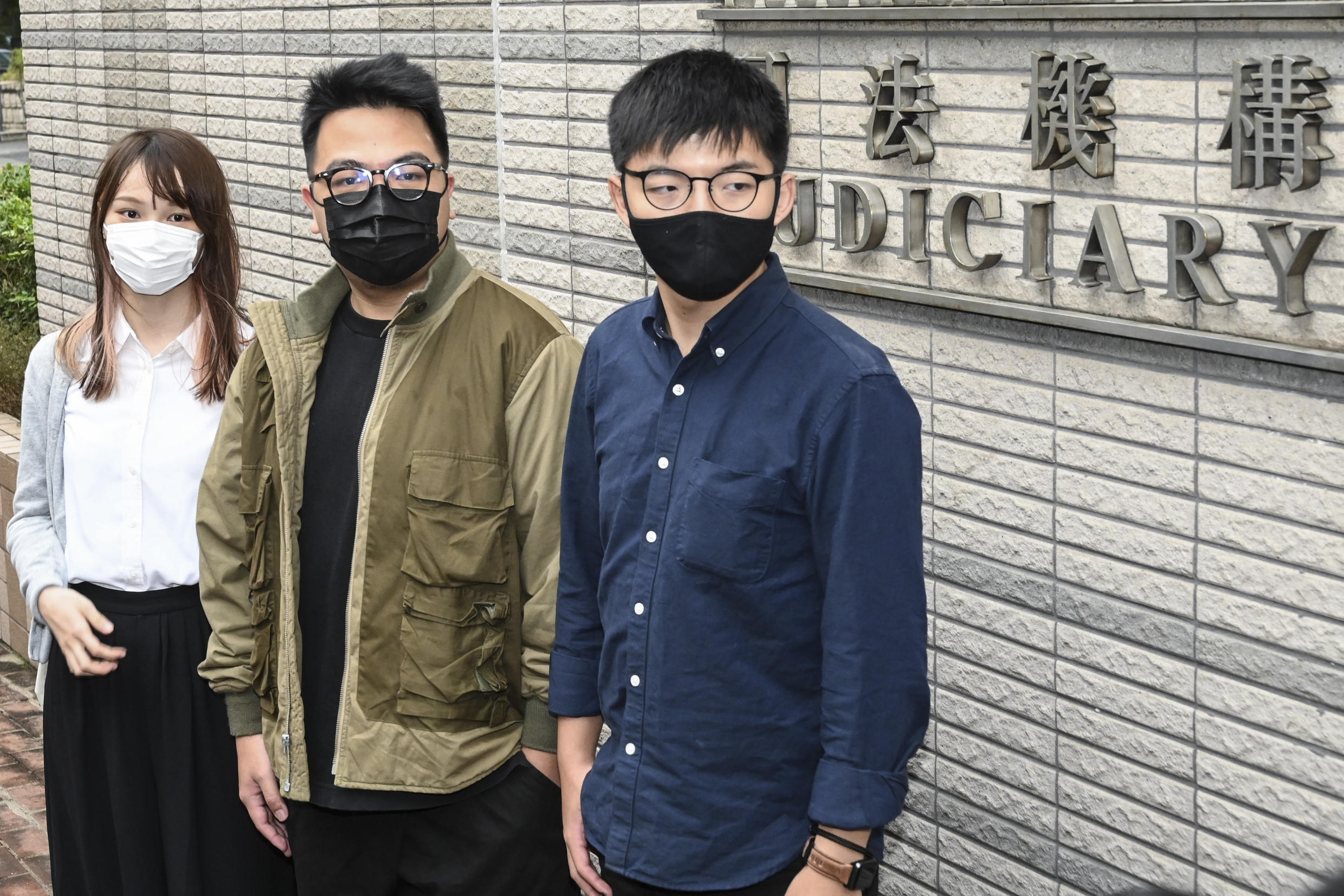 Agnes Chow, Ivan Lam and Joshua Wong were found guilty of inciting an illegal gathering.