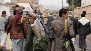 الحوثيون في اليمن. صنعاء في 6 يوليو/تموز 2020.