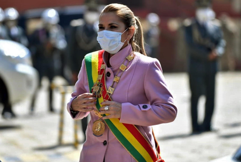 La presidenta interina de Bolivia, Jeanine Áñez, el 7 de agosto de 2020 en La Paz.