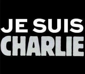"Hours after the gruesome attack, tens of thousands of people marched in cities across France carrying signs that read ""Je suis Charlie"" (I am Charlie), which also became a rallying call on social media."