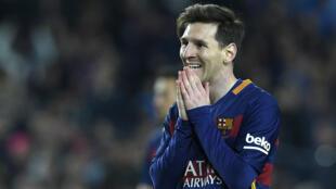 Le footballeur Lionel Messi lors de la défaite du FC Barcelone contre le Real Madrid, le 2 avril 2016.