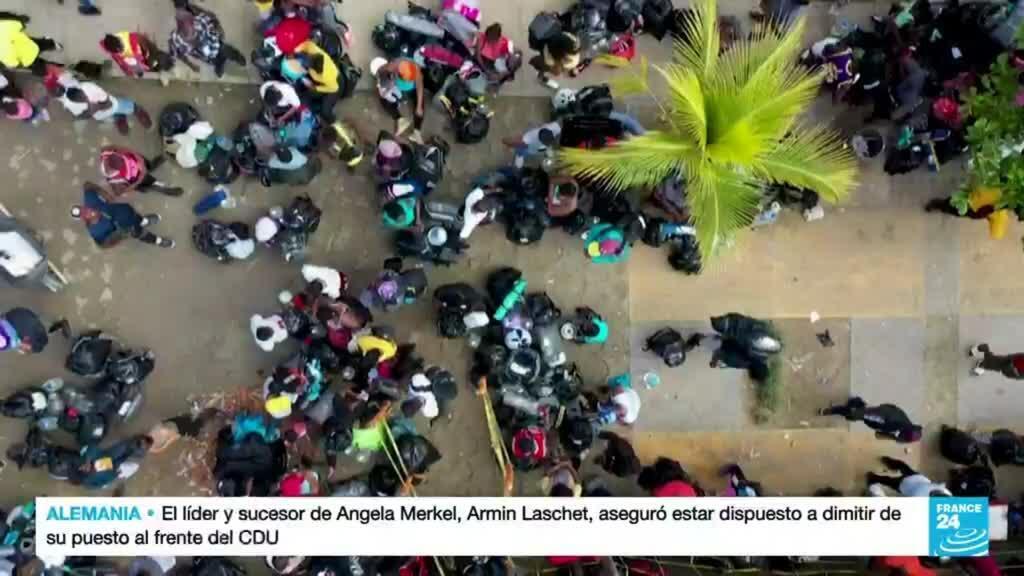 2021-10-08 01:11 Ecuador se convirtió en país de paso para migrantes haitianos que buscan llegar a EE. UU.