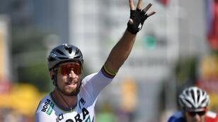 """بطل العالم السلوفاكي """"بيتر ساغان"""" يفوز بالمرحلة الثانية لسباق فرنسا للدراجات"""