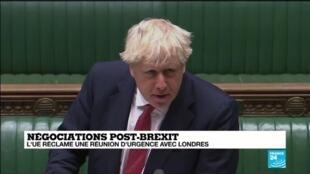 2020-09-09 16:02 Négociations post-Brexit : Londres publie le projet de loi controversé sur l'accord
