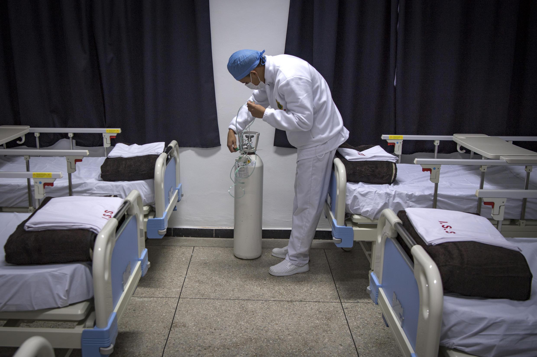 مستشفى عسكري في المغرب، جنوب الدار البيضاء. 18 أبريل/نيسان 2020.