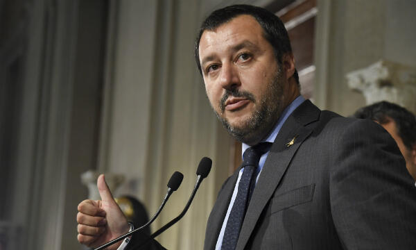 Interior Minister and Joint Deputy PM Matteo Salvini.