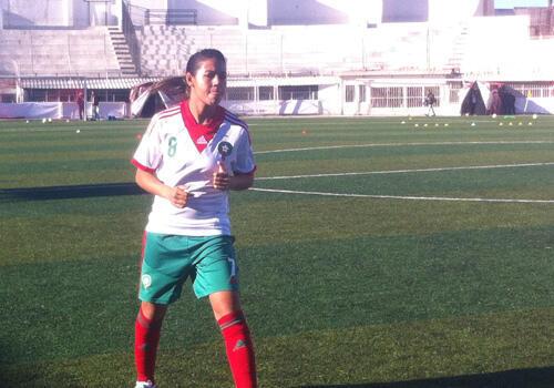 المهاجمة المغربية غيزلان شبك، لاعبة الجيش الملكي