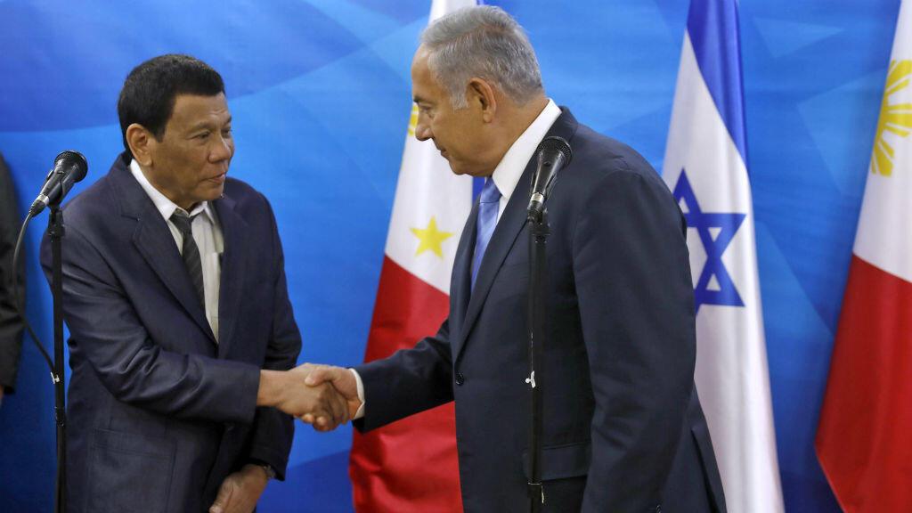 Le président philippin, Rodrigo Duterte, a rencontré Benjamin Netanyahou lundi 3 septembre.