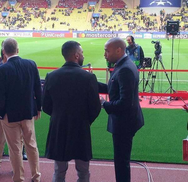 """لاعب موناكو ويوفنتوس السابق تييري هنري كان حاضرا في ملعب """"لويس الثاني"""""""