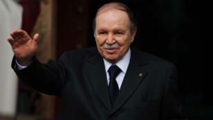 Le président Abdelaziz Bouteflika lors de sa cérémonie d'investiture, le 28 avril 2014.