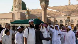 Les funérailles de l'ex-président tunisien Zine el-Abidine Ben Ali à Médine, en Arabie saoudite, le 21 septembre 2019.