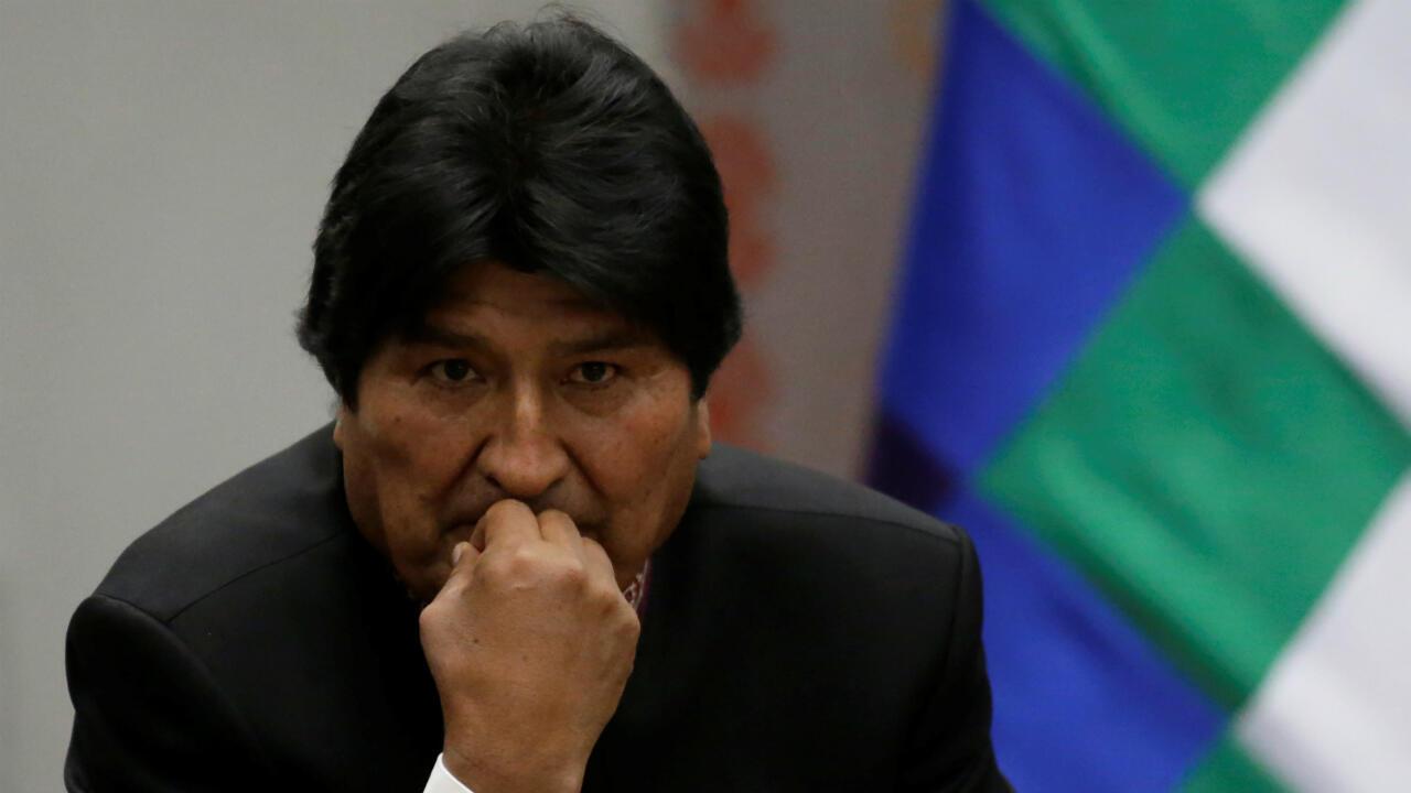 El presidente de Bolivia, Evo Morales, durante una ceremonia en el palacio presidencial del país, La Casa Grande del Pueblo. La Paz, Bolivia, el 12 de junio de 2019.