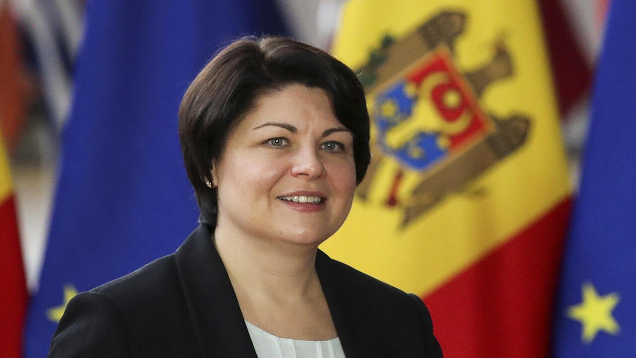 La primera ministra de Moldavia, Natalia Gavrilița, desconoció la deuda con Gazprom en medio de la crisis energética. Foto de Archivo en Bruselas, Bélgica, el 27 de septiembre de 2021.