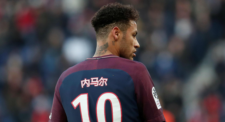 Neymar durante un partido de liga contra el Estrasburgo. 17/2/18