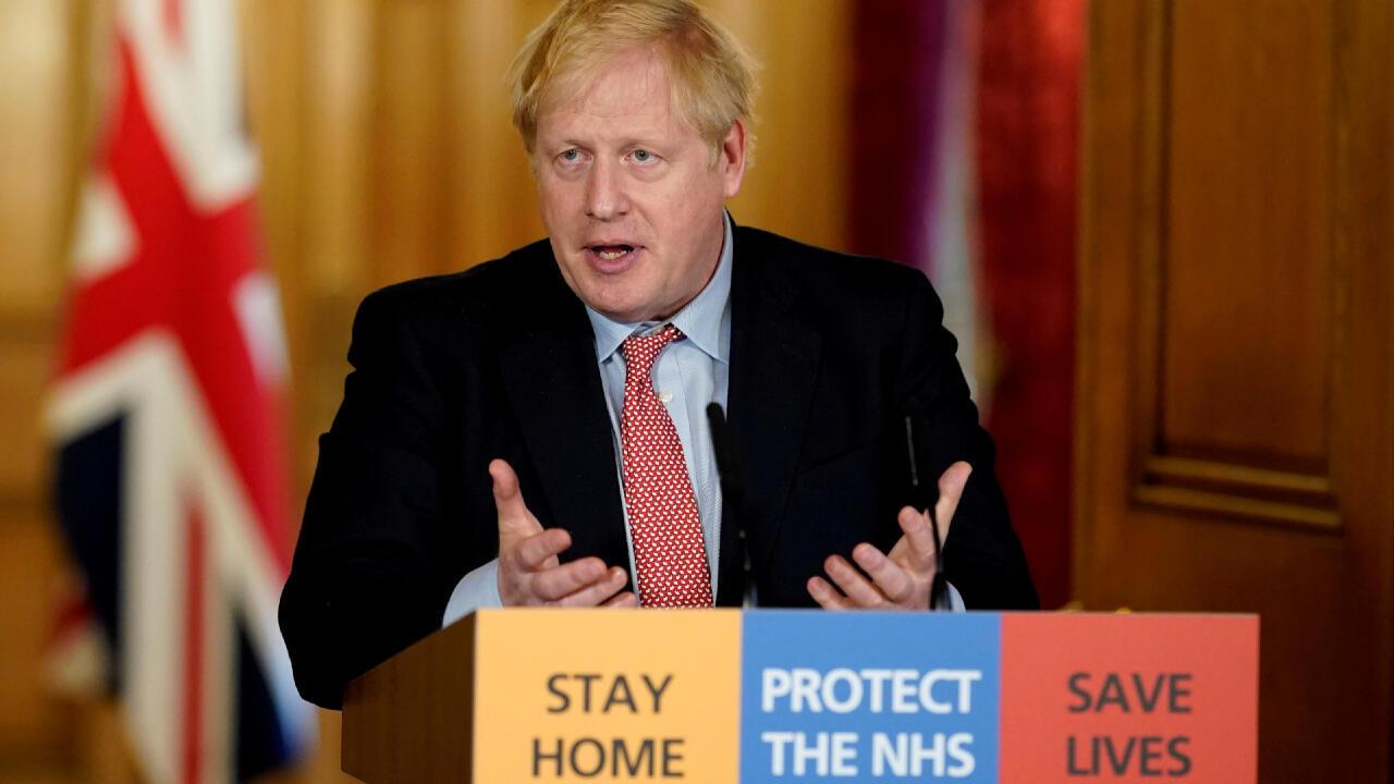 رئيس وزراء بريطانيا بوريس جونسون.