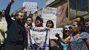 Une manifestation de soutien au maire de Caracas arrêté vendredi s'est organisée dans la ville samedi  20 février.