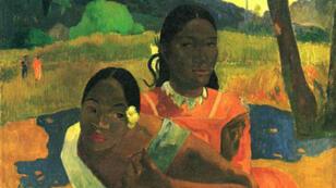 """Détail du tableau """"Nafea faa ipoipo ?"""" de l'impressionniste français Paul Gauguin."""