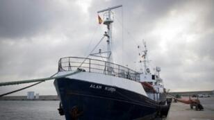 """سفينة إيلان كردي التابعة لمنظمة """"سي آي"""" الألمانية غير الحكومية في مايوركا. 10 فبراير/شباط 2019."""
