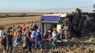 القطار كان يحمل 360 راكبا من كابيكول على الحدود البلغارية