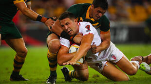 Sam Burgess was reportedly pulled over southwest of Sydney and given a roadside drug test, which he allegedly failed