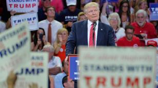 Donald Trump s'exprime lors d'un meeting à Wilmington, en Caroline du Nord, le 9 août 2016.
