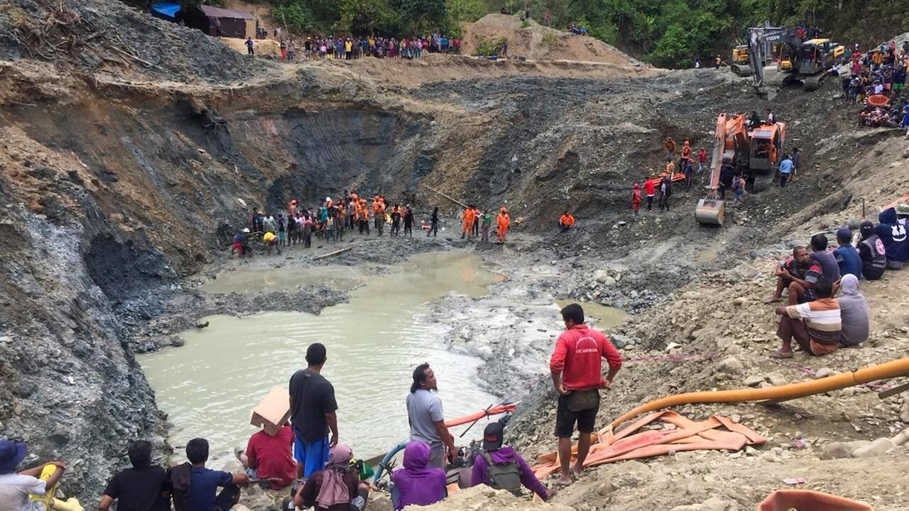Collapse at illegal gold mine in Indonesia kills at least six workers