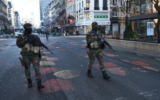 قوات بلجيكية في شوارع بروكسل