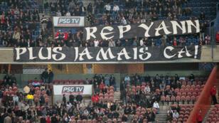 Une banderole déployée par les supporters du PSG, lors d'un match contre Bordeaux, le 10 avril 2010.